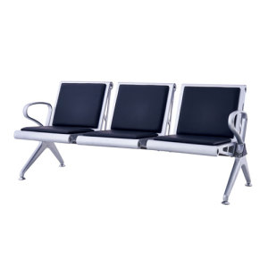 New Style Airport Chair with PU Leather Cushion & Waiting Chair with 3 Seaters & Waiting Room Chair