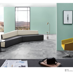 High quality Black&White Corner Office Sofa  public furniture