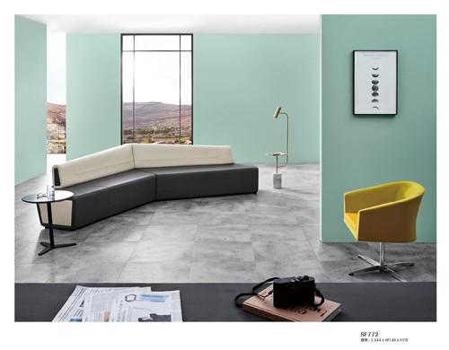 High quality Black&White Corner Office Sofa  public furniture