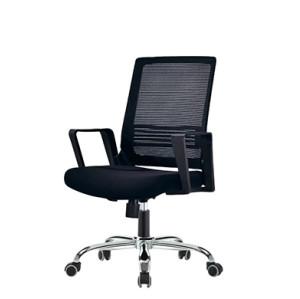 Middle Back office Mesh Chair with nylon base,PP Armrest(YF-130)