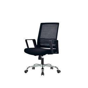 Middle Back office Mesh Chair with nylon base,PP Armrest(YF-130)