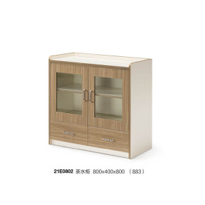 Office file cabinet with double door,2 drawers,with handle,tea tank(YF-21E0802)