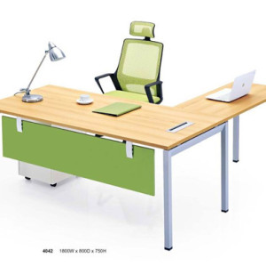 Wooden L Shaped Manager Office Desk with Office Task Chair (YF-D4042)