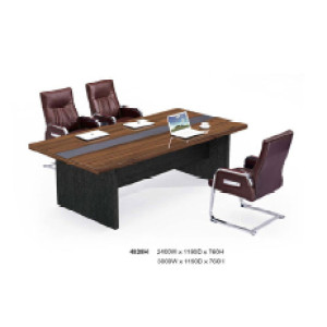 Wooden Texture Anti-wear Manager Office Desk & Small Conference Table & Office Furniture Supplier