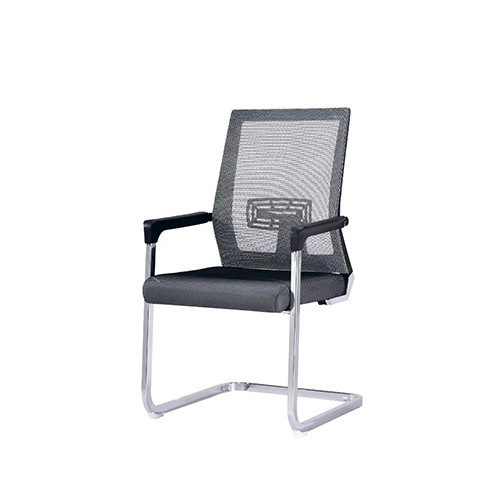 Wholesale Middle Back Mesh Office Visit Chair with chrome base (YF-A105Gray)