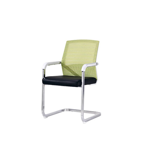 Wholesale Middle Back Mesh Office Visit Chair With Chrome Base(YF-A094 Green)