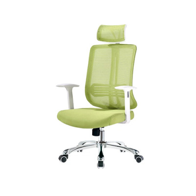 Height Adjustable Green Mesh Office Executive Chair with Headrest and Castor Base (YF-A110)