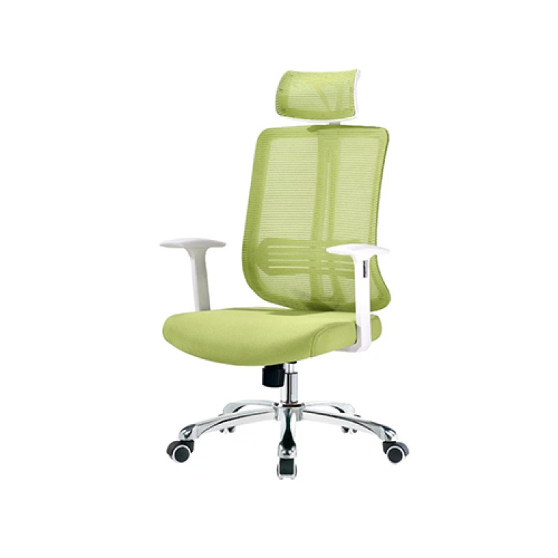 Green Mesh Office Executive Chair with Headrest and Castor Base (YF-A110)