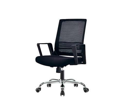Wholesale Mid-Back Mesh Office Chair With PP Back Frame And Armrest, Chrome Base(YF-130)