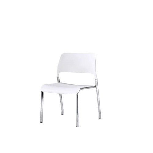 Office Stacking Chair With Plastic Seat And Back, Chrome Base (YF-X05)