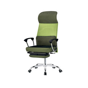 Wholesale Double colored genuine leather swivel chair(YF-A334-Green)