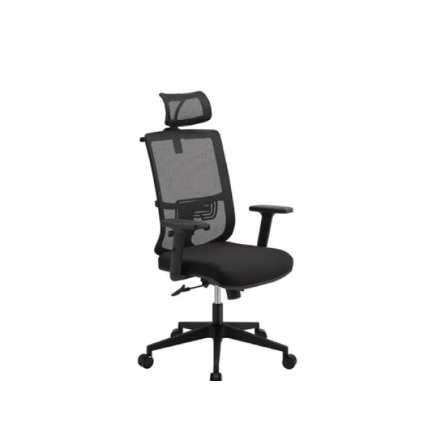 Mesh office chair with nylon back frame and nylon soft PU height adjustable armrest(YF-5592A)