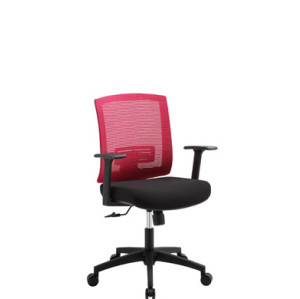 Mid-back mesh office chair with PP back frame and armrest, nylon base(YF-5595)