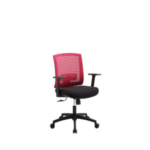 Mid-back mesh office chair with PP back frame and armrest, nylon base(YF-5595)