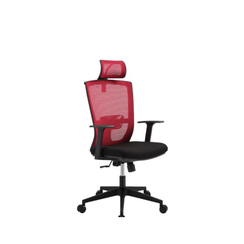 Wholesale mesh office chair with PP back frame and armrest, nylon base(YF-5601A)