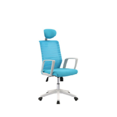 Office task chair with PP back frame and armrest, nylon base, butterfly mechanism(YF-5604A)