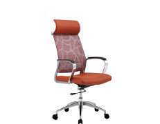 Wholesale mesh office chair with PP back frame, nylon base and armrest, butterfly mechanism(9605A)