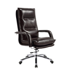 Wholesale Double colored geniun leather swivel chair(9585)