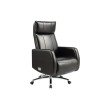 Wholesale Executive office chair with genuine leather, metal structure inside, aluminum base