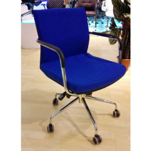Wholesale mesh office task chair with armrests and aluminum base(YF-153B)