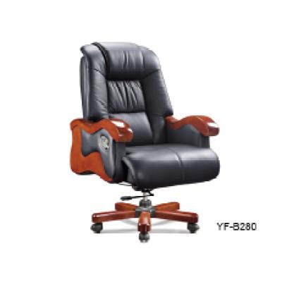 Black Leather Office Adjustable Executive Economic Office Chair (YF-B280)