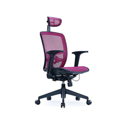 Adjustable Height Office Mesh Chair with Headrest,Armrest and Swivel Castor Base (YF-101H)