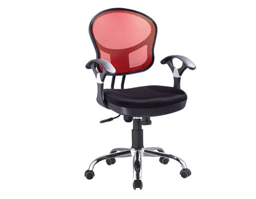 Mid-Back office Mesh Chair with Aluminum Base and PP Armrest(YF-378)