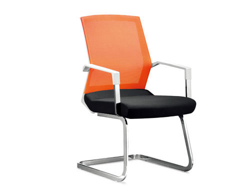 Wholesale Mesh office chair with plastic frame and chrome base(YF-2607B)