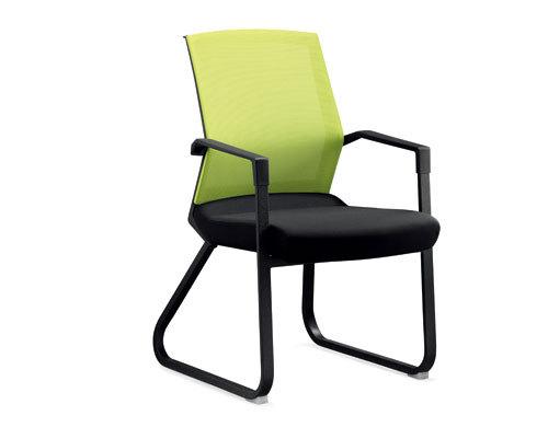 Wholesale Mesh Office chair with green frame, Plastic fixed armrest, Nylon base(YF-2609-GREEN)