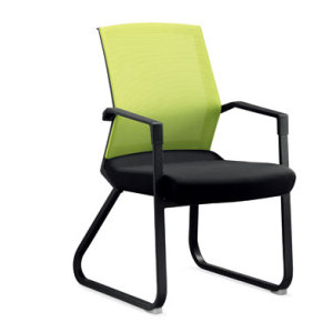 Wholesale Mesh Office chair with green frame, Plastic fixed armrest, Nylon base(YF-2609-GREEN)