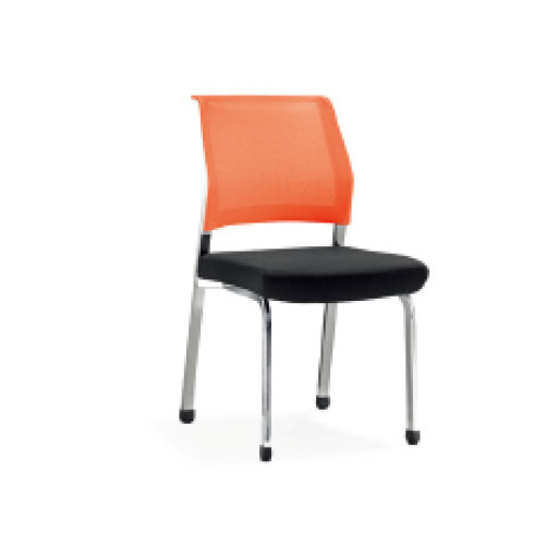 Wholesale Office Stacking Chair With Plastic Seat And Back, Chrome Base,With Wheels(YF-2617)