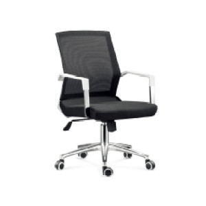 Wholesale mid-back mesh office task chair with chrome base and armrests(YF-5607-B)