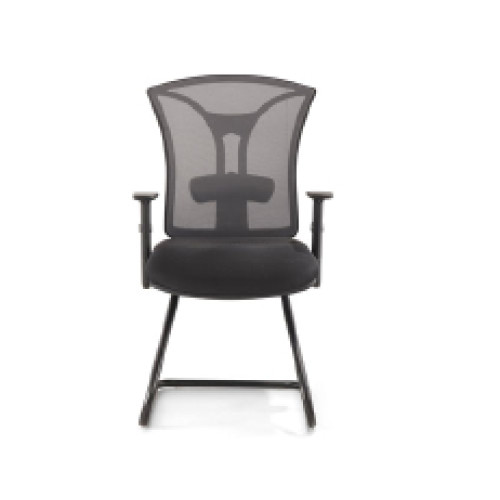 Middle Back Mesh Office Visit Chair With Chrome Base,Plastic Cover Of Amrest(YF-5060C)