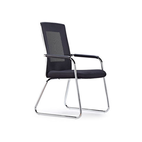 Wholesale mesh office visit chair with aluminum base and PU armrests(YF-5069C)