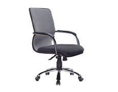 Wholesale Office Task Chair with PU Wheel and Chrome Base(YF-5093)