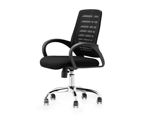 Mesh Office Visit Chair With Mesh Seat And Back, Chrome Base,Plastic Cover Of Amrest(YF-5535)