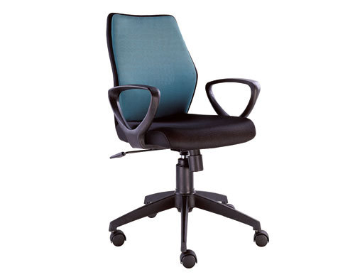Wholesale Double colored geniun leather swivel chair with nylon base(YF-230B)