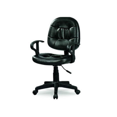 Wholesale leather swivel office chair with armrests(YF-040)