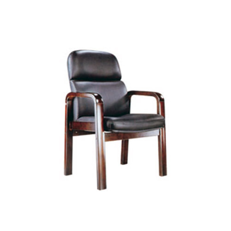 Wholesale comfortable office wooden visitor chair with armrests and no wheel(YF-203)