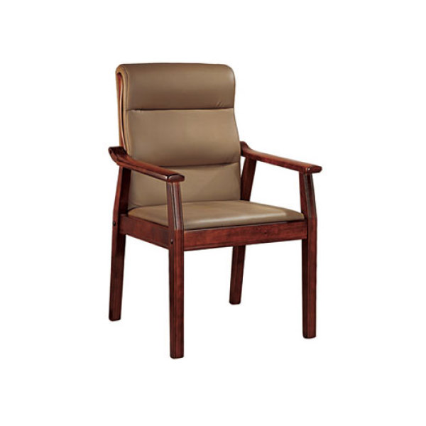 Wholesale Modern Wooden Leather Visitor Chair With Armrests(YF-206)