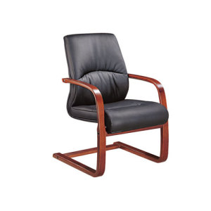Comfortable Office Visitor Chair with Metal Armrest (YF-2282)