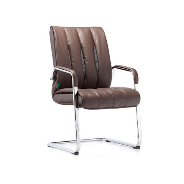 Wholesale Leather Office Visitor Chair With Metal Frame(YF-2373)