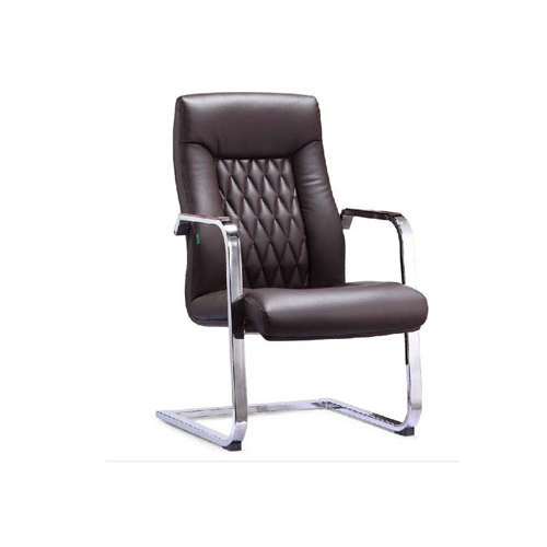 Leather Office Visitor Chair with Metal Armrest (YF-2511)