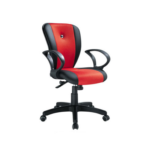 Double-color Leather Swivel Task Chair with Armrest and Castor Base (YF-3013)