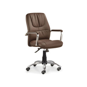 Wholesale Mid-Back Office Chair With PU Wheel And Chrome Base(YF-3065-2)