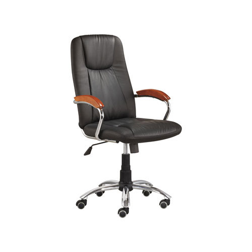Wholesale swivel PU executive chair with stainless steel frame(YF-3079)