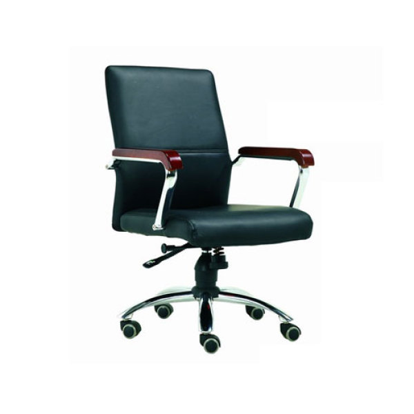 Mid-Back PU Leather Office Task Swivel Chair With Aluminum Armrest And Aluminum Base(YF-3090)