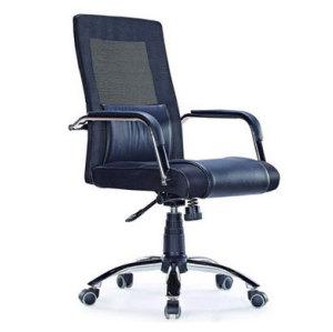 Wholesale leather mesh office chair, PU Caster/Chrome Feet(YF-3100)
