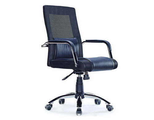 Wholesale leather mesh office chair, PU Caster/Chrome Feet(YF-3100)