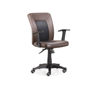 Wholesale Middle Back PU Task Chair with nylon aluminum and base(YF-3802-3)